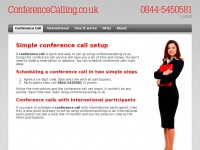 Simple Conference Call setup | ConferenceCalling.co.uk
