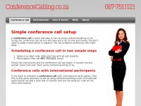 Simple Conference Call setup | ConferenceCalling.co.za