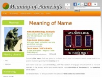 Meaning-of-name.info - Meaning of Name