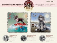 Welcometothedoghouse.net - pet dog oil portraits paintings - Custom whimsical oil paintings on stretched canvas!