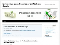 Instructivo para Posicionar mi Web en Google