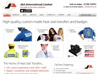 Ja-int.co.uk - J&A (International) Ltd - Heat Seal Transfers, Badges, Relective, Embroidery & Heat Presses
