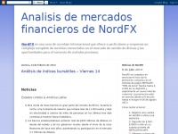 Analisis de  mercados financieros de NordFX