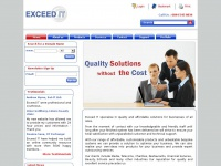 Exceedit.co.uk - Exceed IT   Bespoke software specialists   Web solutions