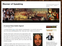 """Mannerofspeaking.org - Manner of Speaking 