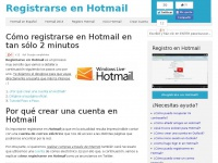 Registrarseenhotmail.es - Registrarse en Hotmail (actual Outlook)