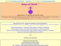 Ways-of-christ.net - Jesus Christ, our spiritual life and the world
