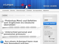 E-lengua.de - Englisch lernen - English Learning Community |