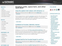 Oz9aec.net - OZ9AEC Website – Amateur radio, space, technology and other geeky stuff by Alexandru Csete