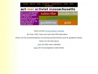 Act-ma.org - Progressive Events and Activities in the Greater Boston Area
