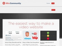 Mirocommunity.org - Miro Community: The easiest way to create a video site or contest