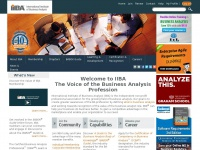 Iiba.org - The Professional Association dedicated to promoting the business analysis profession worldwide - IIBA | International Institute of  Business Analysis
