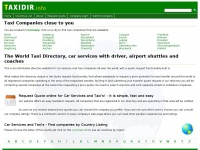 Taxidir.info - The World Taxi Directory, car services with driver, airport shuttles and coaches