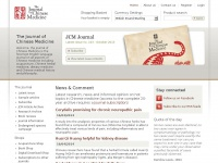 Jcm.co.uk - The Journal of Chinese Medicine & Traditional Chinese Medicine
