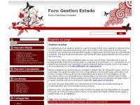 Foro Gestion Estado