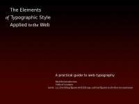 Webtypography.net - The Elements of Typographic Style Applied to the Web – a practical guide to web typography