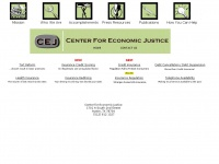 Cej-online.org - Welcome - Center for Economic Justice