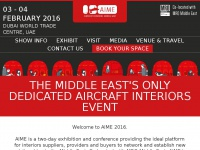 Aime.aero - Aircraft Interiors Middle East (AIME) is being held on February 3-4 2016