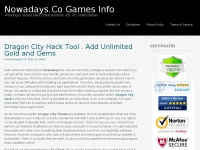 Nowadays.Co Games Info | Working & Tested Hack Cheat Android, iOS, PC, Video Games