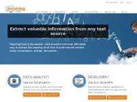 Text Analytics - MeaningCloud text mining solutions