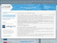 Lyxoretf.ch - Lyxor ETFs - Home | Lyxor Switzerland
