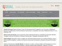Gqualcampaign.org - GQUAL Campaign for gender parity in international representation
