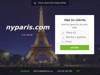 Se vende dominio nyparis.com