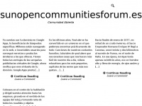 sun open communities forum – Comunidad Abierta