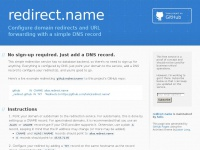 redirect.name by holic