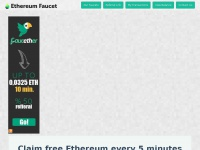 Ethereumfaucet.net - Ethereum Faucet - Claim Ether Every 5 Minutes