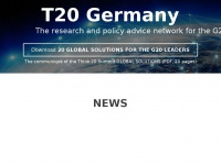 T20germany.org - The T20: Germany's G20 Presidency - T20 Germany