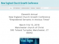 "Newenglandcgc.org - New England Church Growth Conference – ""Empowered Servants in Anxious Times"" March 9 & 10, 2018"