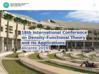 Dft2019.es - DFT Alicante – 18th INTERNATIONAL CONFERENCE ON DENSITY-FUNCTIONAL THEORY AND ITS APPLICATIONS