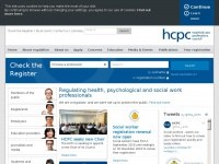 Hcpc-uk.org - HCPC - Health and Care Professions Council | Regulating health, psychological and social work professionals