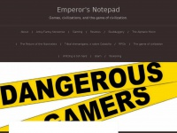 Emperorponders.blog - Emperor's Notepad – Games, civilizations, and the game of civilization.