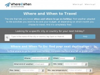 Whereandwhen.net - Where And When To Travel - Your holiday with perfect weather
