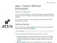 Attrs.org - attrs: Classes Without Boilerplate — attrs 18.2.0 documentation