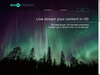 Whostreams.net - WhoStreams - Live stream your content in HD