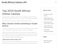 Southafricancasinos101.co.za - Online Casinos South Africa 2019: Best Online Gambling Guide in SA