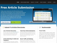 Freearticlesubmission.org - Free Article Submission Sites - Article Marketing Tool To Submit To Article Directories