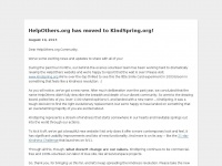 Helpothers.org - HelpOthers is now KindSpring