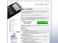 Wordrider.net - WordRider Text Editor for TI-89/92/TxtRider/Hibview/uView - homepage