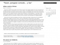 """Pasen, pongase comodo... y lea"" 