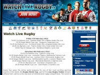 Watchliverugby.tv - Watch Live Rugby Online. Live Rugby World Cup 2011 On All Web Browsers On All OS.