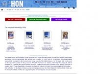 Hon.ch - Health On the Net, promotes transparent and reliable health information online through HONcode certification.