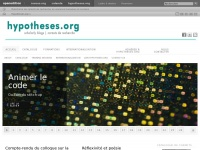 Hypotheses – Platform for academic blogs in the humanities and social sciences