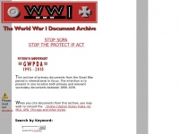 Gwpda.org - The World War I Primary Documents Archive