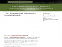 7dayprogrammablethermostat.org - 7 Day Programmable Thermostat - Buyers Guide
