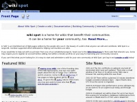 Wikispot.org - Wiki Spot - Wikis for your community. Community for your wiki.