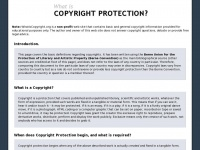 Whatiscopyright.org - What is Copyright Protection?